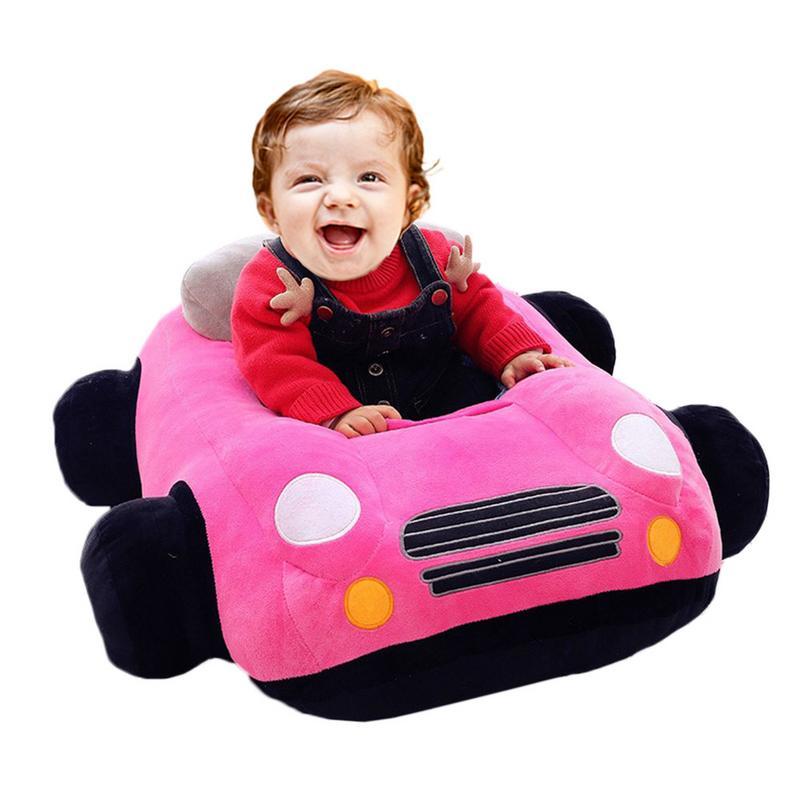 Cartoon Car New Plush Creative Toy Children Sofa Cushion Baby Birthday Gift Infant Seats Sofa Learning To Seat Chair