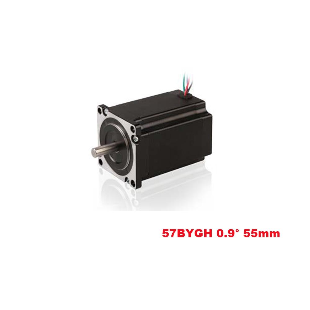 Nema 23 57BYG Hybrid Stepper Motor 0.9 Degree 4 Lead 2 Phase 55mm 0.8N.m 3.0A for CNC 3D Printer Milling Machine Free ShippingNema 23 57BYG Hybrid Stepper Motor 0.9 Degree 4 Lead 2 Phase 55mm 0.8N.m 3.0A for CNC 3D Printer Milling Machine Free Shipping