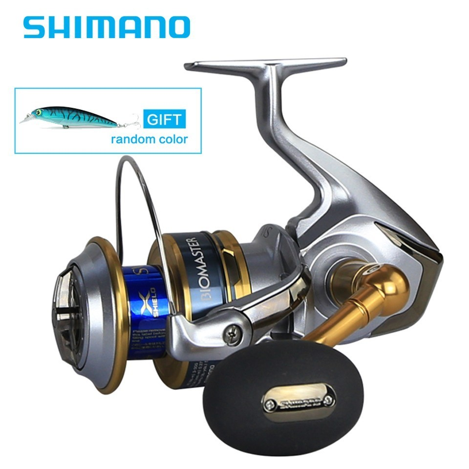 Newest Original Shimano BIOMASTER SW 2 Speed 4000 5000 6000 8000 Spinning Fishing Reel 7BB X-SHIP Saltwater Fishing Reel haibo professional saltwater spinning fishing reel 5000 6000 7000 8000 9000 7bb 4 9 1 surf casting reel trolling jigging wheel