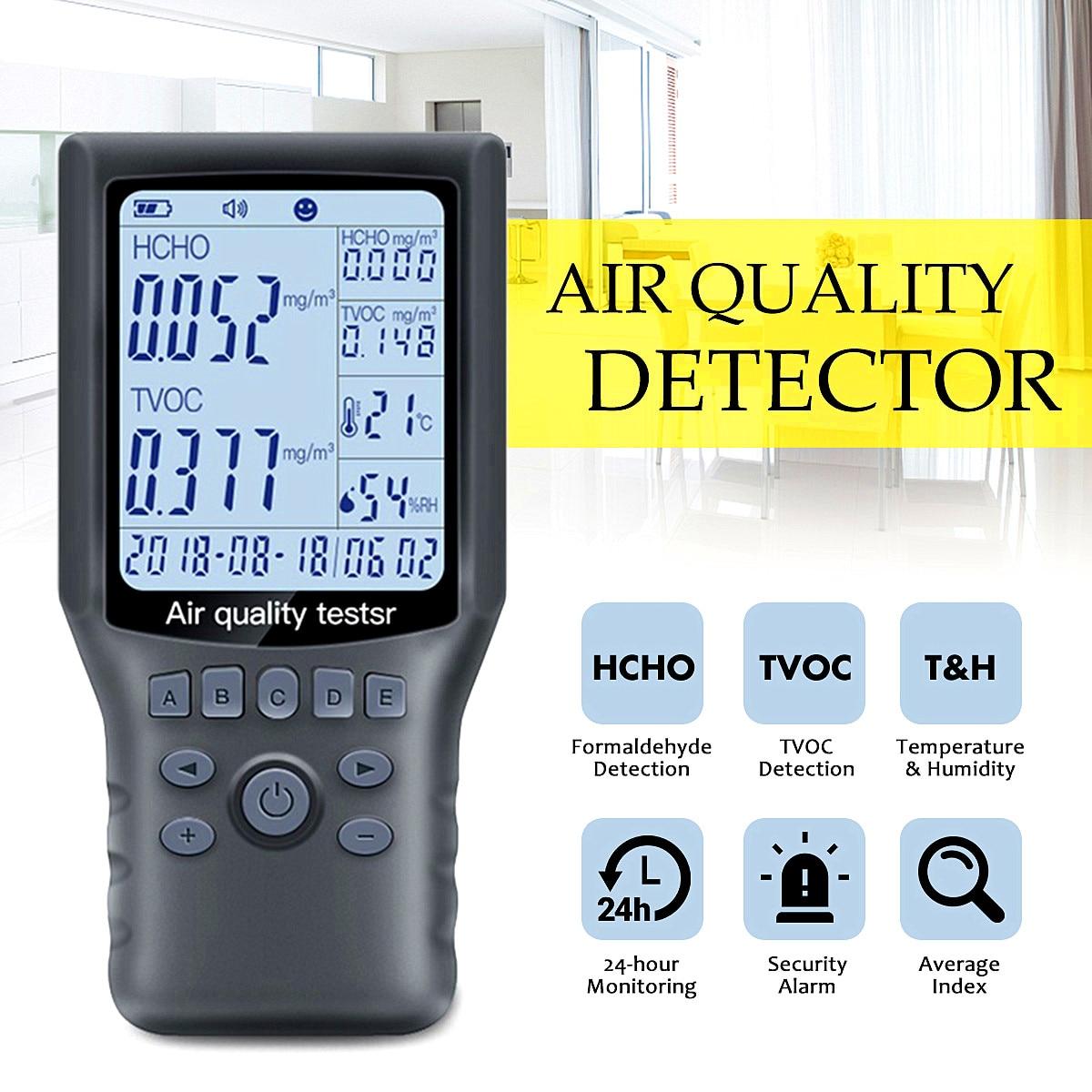 Analysatoren Tragbare Luft Qualität Detektor Hcho Tvoc Tester Gas Monitor/gas Analyzer/temperatur/feuchtigkeit Meter Auto Büro Diagnose Werkzeug
