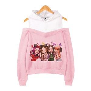 Женский свитер с длинным рукавом, корейская мода, черный и розовый цвета