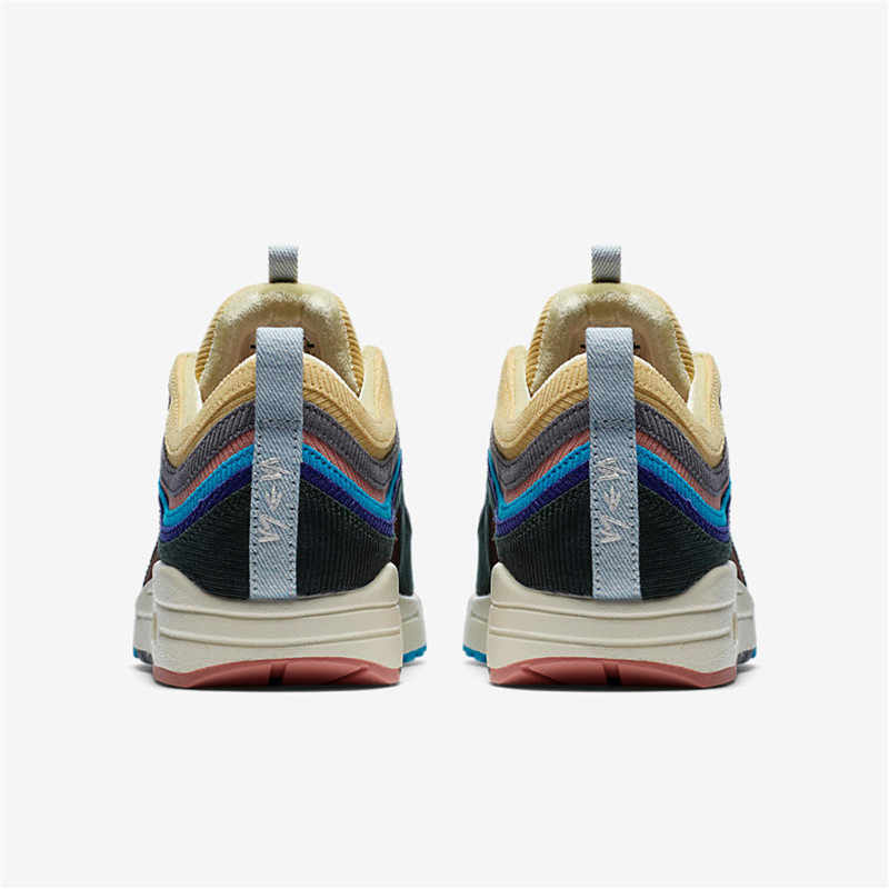 huge selection of fe5f6 06ab6 Nike official Air Max 1/97 SW Sean Wotherspoon Summer Man Running Shoes  Comfortable Sneakers AJ4219-400