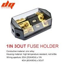 300A Car Audio ANL Fuse Holder Breaker 12V-24V 1 In 3 Way Out Distribution Boat Vehicles Speaker Amplifier Subwoofer Fuse Box