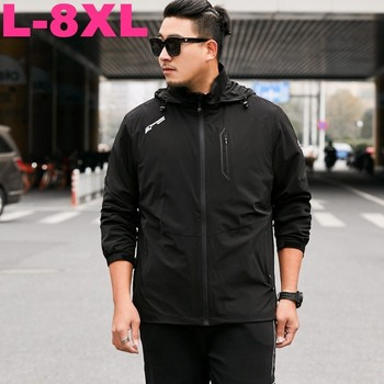 2019 New 8XL 7XL Plus Size Men Spring And Autumn Plus Business Jacket Loose Jacket Extra Large Size Jacket Men Youth Windbreaker