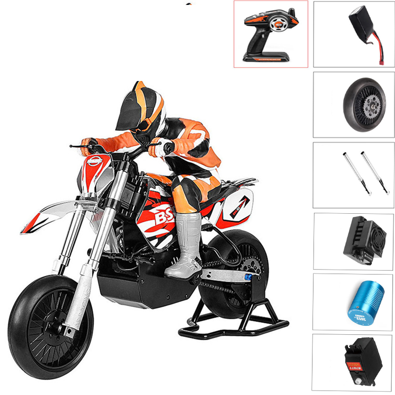 BSD Racing 404T RC Motorcycle 1/4 2.4G 4WD 60km/h High Speed Brushless Electric Motorcycle Cars For Boys Gifts Adults ToysBSD Racing 404T RC Motorcycle 1/4 2.4G 4WD 60km/h High Speed Brushless Electric Motorcycle Cars For Boys Gifts Adults Toys