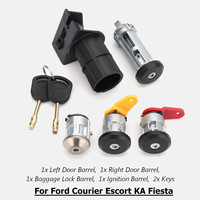 4PCS Car Left Right Full Door Look Barrel Set w/ 2 Keys For Ford Courier Escort KA for Fiesta 1989 2002