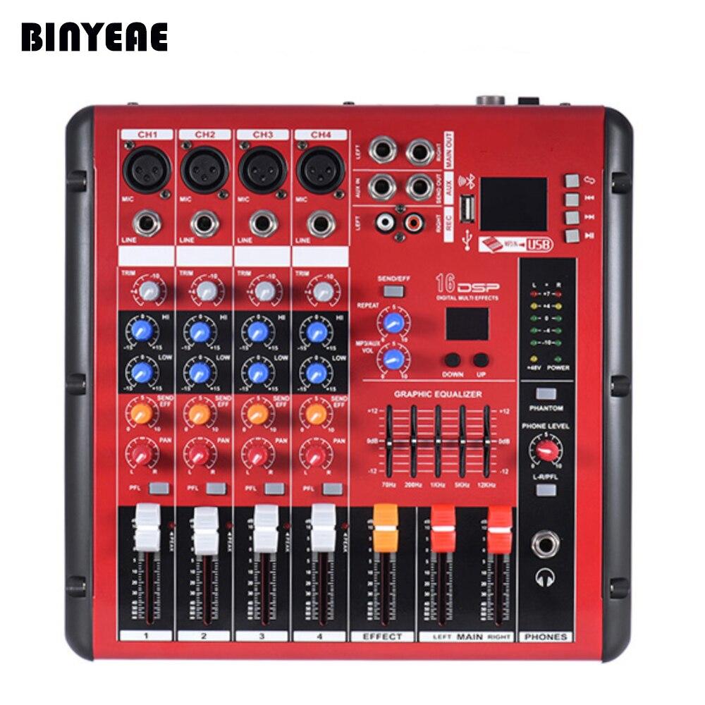 Tragbares Audio & Video 4 Kanal Power Audio Dj Mixer Uns Stecker Professional Power Mischen Verstärker Usb Slot 16dsp 48 V Phantom Power Für Mikrofone