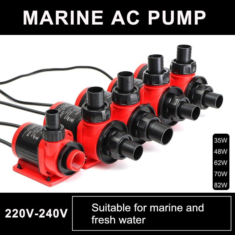 35W/48W/62W/70W/82W 220V Submersible Water Pump Aquarium Fountain Flow Marine Fish Pond Tank Tank Garden цена 2017