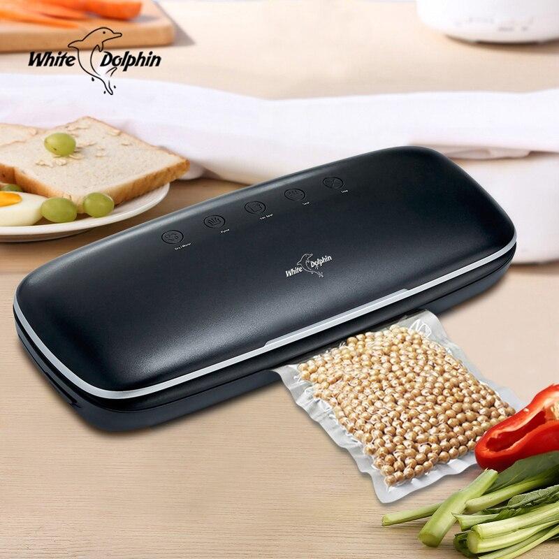 Cozinha Saver Aferidor do Vácuo de Alimentos Para A Alimentação 110 V 220 V Com 10 pcs sacos De Armazenamento Automático Aferidor Do Vácuo do Agregado Familiar máquina de embalagem