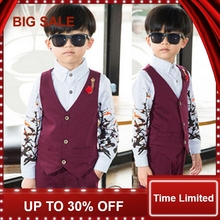 kids sets newly design vest +shirts+pants suits children clothing baby outfits boys for wedding