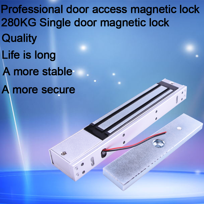 OULET 280kg Magnetic Lock Electric Lock12V Door Lock (600LB) Single Door Electromagnetic Lock Holding Force For Access Control все цены