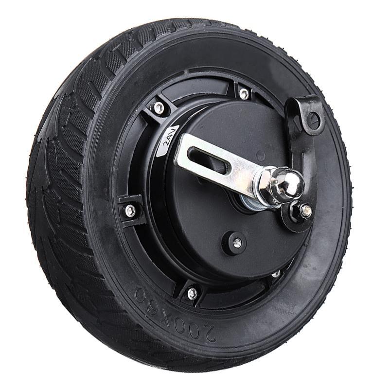 8 pouces Scooter électrique moyeu roue moteur 24 V 36 V 48 V 350 W DC sans brosse roue moteur Scooter roue vélo pièces de vélo