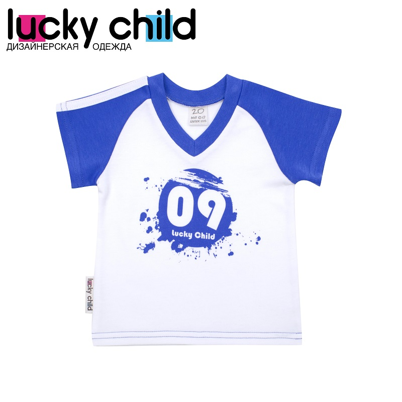 T Shirts Lucky Child for boys 19-262 (3M-18M) Top Baby T Shirt Kids Tops Children clothes kids outfits letter pattern t shirts in white