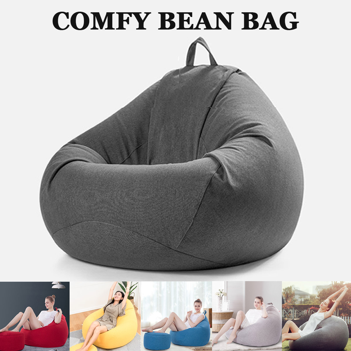 Baby Furniture Baby Seats & Sofa 2018 New Bean Bag In Living Room Luxury Magic Seat Zac Shell Comfort Bean Bag Bed Cover Without Filler Outdoor Furniture Sofa In Many Styles