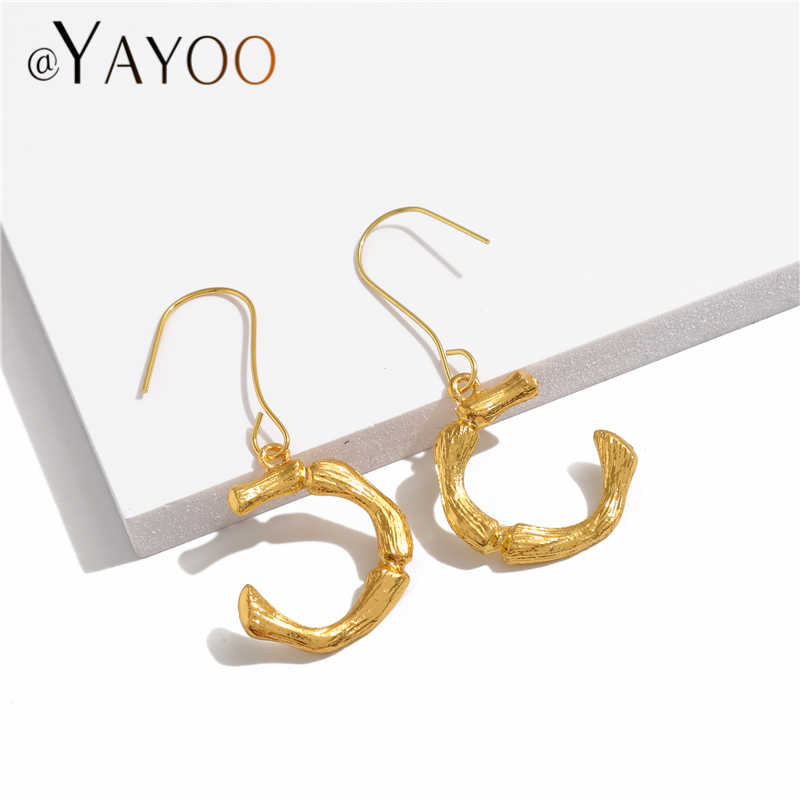 Metall Initial Brief Ohrringe Für Frauen Gold Farbe Ohrringe Mode Schmuck Große Vintage Tropfen Ohrringe Weibliche Böhmischen Brincos