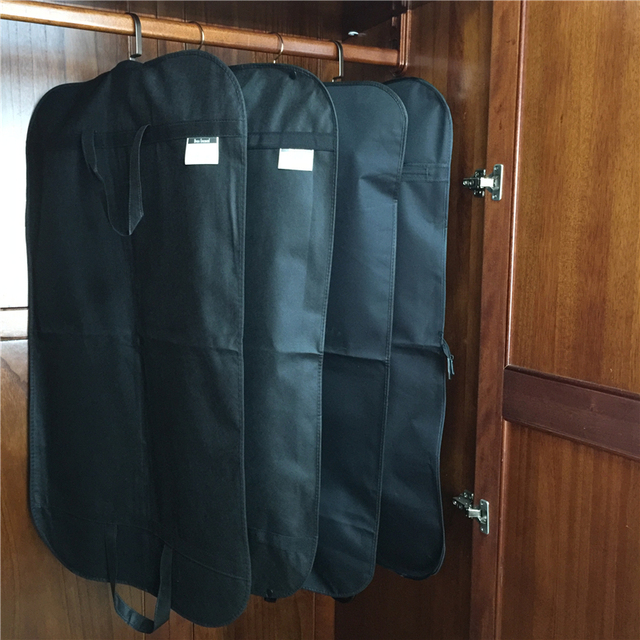 Garment Bag Cover Suit Dress Storage Non-woven Fabric Free Shipping Breathable Dust Cover Protector Travel Carrier Dust Cover