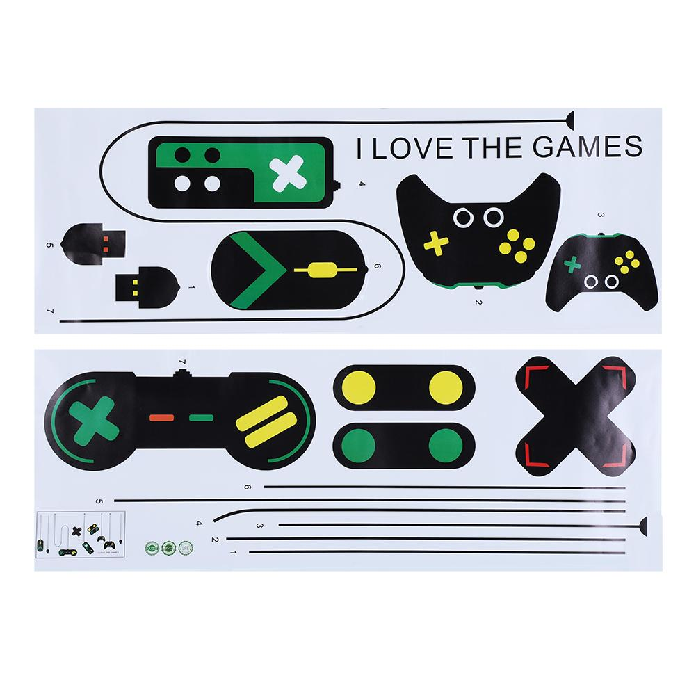 Wall Stickers 1Pc Game Console Controller Decorative Wall Sticker for Bedroom Internet Bar Background Decal  wall stickers for
