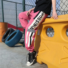 Men's Trousers 2019 Summer New Youth Popular Loose Printing Reflective Strips Feet Nine Pants Sports Pants Casual Men's Clothing