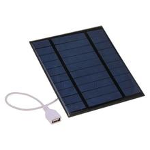 USB солнечная панель для улицы 2,5 Вт 5 В портативное солнечное зарядное устройство для скалолазания быстрое зарядное устройство поликремниевый планшет солнечный генератор для путешествий