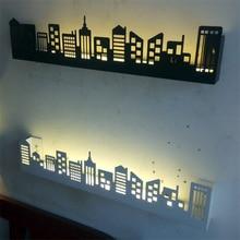 Скандинавский светодиодный настенный светильник в скандинавском стиле, городской светодиодный светильник, освещение для полки, Светильники для гостиной, настенные светильники для спальни, светильник