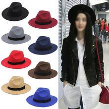 Sombrero de fieltro Retro británico de Otoño Invierno para mujer, sombreros de ala grande para mujer, cálidos, cómodos, Vintage, 3 colores, sombreros para hombres y mujeres