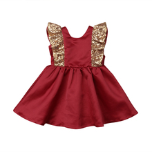 Christmas Toddler Kids Baby Girl Dress Princess Sequin Red Tutu Dress Party Wedding Formal Dress