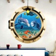 Модный стиль 3D наклейки с картинками дельфинов подводный мир для гостиной фон настенные плакаты настенные наклейки дельфины подарок