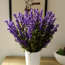 Garden Home Jewelry Lavender Artificial Flowers Set Handmade Freehand Brushwork Dried