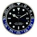 Europese Stijl Retail Metalen Horloge Vorm Wandklok Kalender Wandklok met Datum voor Woonkamer Mute Wandklokken