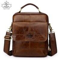 Genuine Leather Shoulder Bag Men Messenger Bags Zipper Design Men Commercial Briefcase Flap Pocket CrossBody Bag 2018 NEW ZZNICK