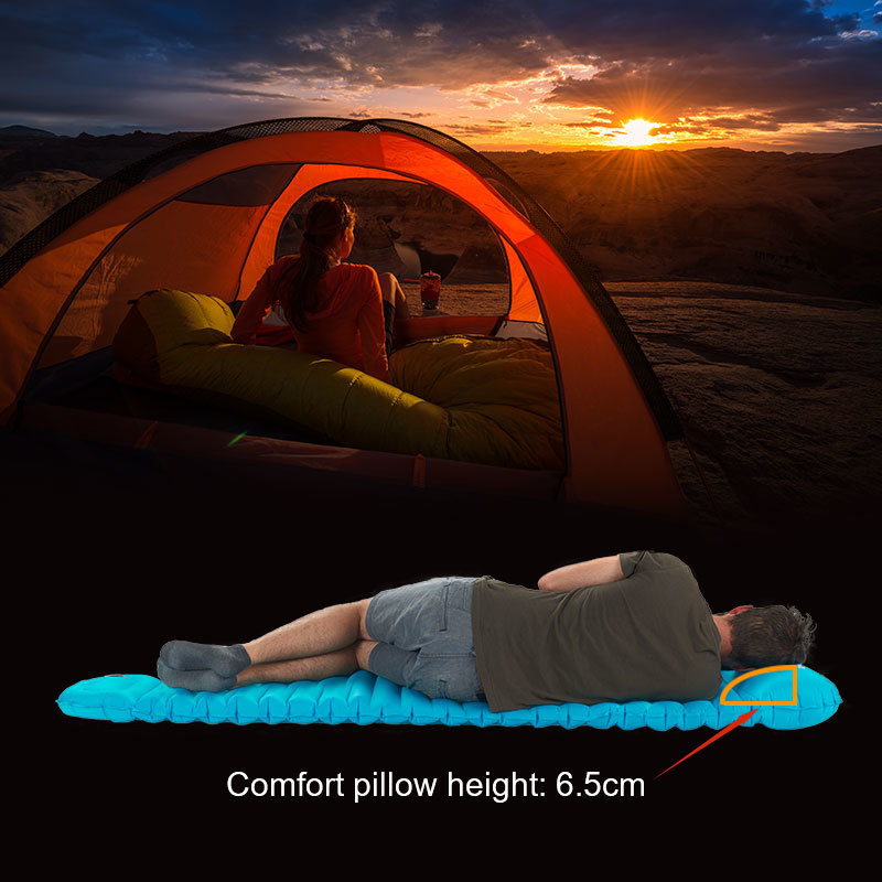 Naturehike Clearance Price Big Discount High Quality Outdoor Push Inflatable Camping Mat Tent Outdoor Waterproof Sleeping Pad-in Camping Mat from Sports & Entertainment    3