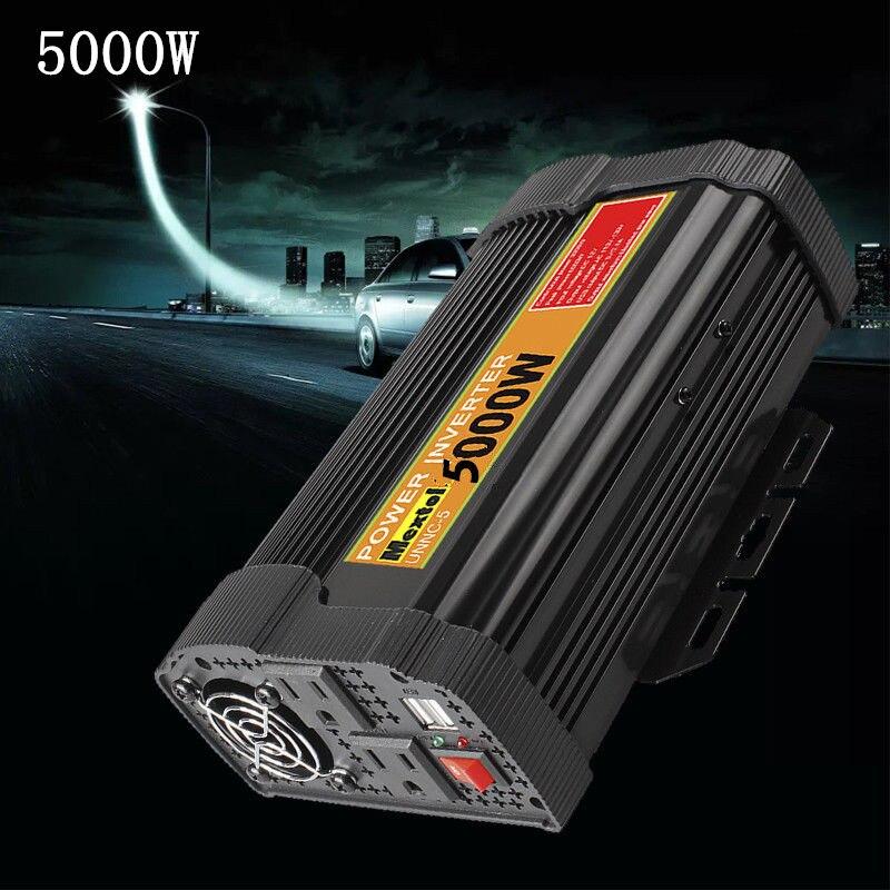 Инвертор 12 В 110 В 10000 Вт пик 5000 Вт Авто Модифицированная синусоида Напряжение трансформатор солнечной Мощность преобразователь автомобильн...