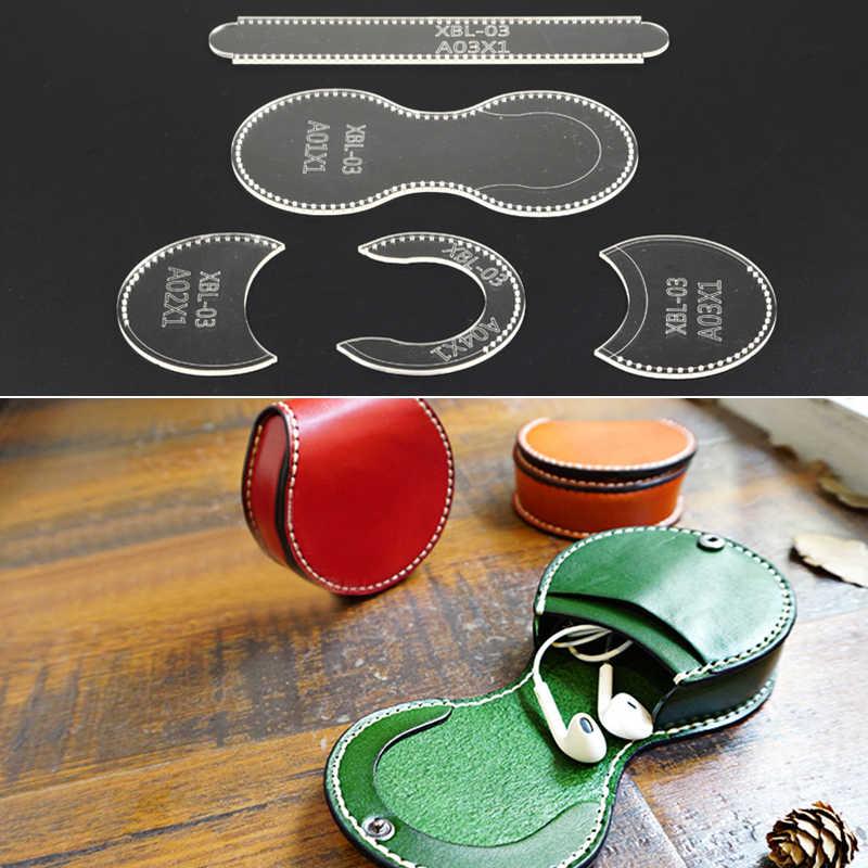 b393ff71830a Transparent Purse Leather Craft Acrylic Wallet Bag Pattern Stencil ...