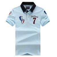 Бренд Faconnable вышивка Для мужчин поло короткий рукав рубашки для Для мужчин Бизнес Eden социальные рубашки классической мужской парк рубашки п...