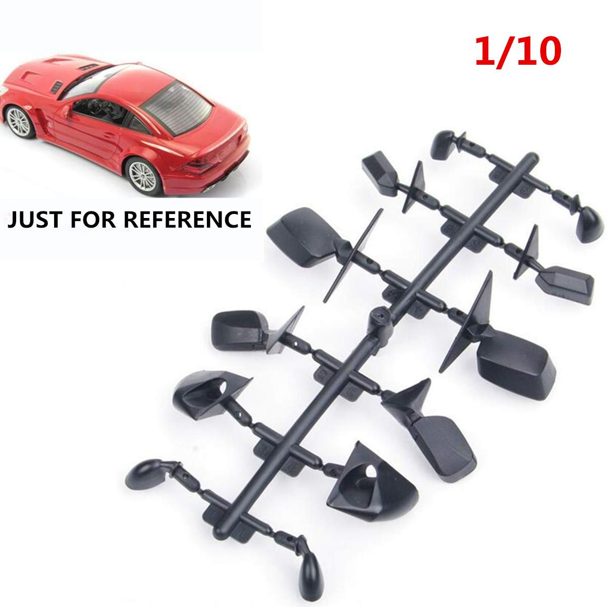 6 mirror rear view set HSP 00369BK black bodyshell body side rear mirror set fit for 1:10 RC on road car assembly parts Parts & Accessories    - AliExpress