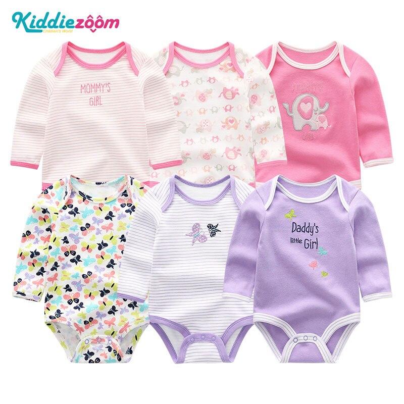 Image 5 - Одежда для маленьких девочек, боди с единорогами, одежда для маленьких мальчиков 0 12 месяцев, комбинезон в полоску, хлопковая одежда для новорожденных, одежда для девочекБоди для малышек   -