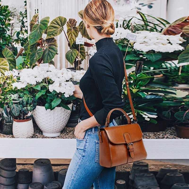 2019 Vintage Kulit Asli Desainer Mewah Handbags Wanita Messenger Tas Kulit Sapi Kecil Bahu Musim Panas Tas Merek Terkenal Bolsa