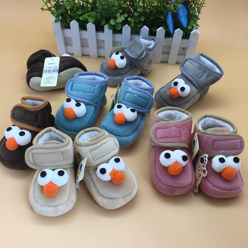 И зимой фонд на хлопковой подкладке для малышей зимняя обувь ребенка держать Мягкие теплые хлопковые тапочки детская обувь с мягкой подошв