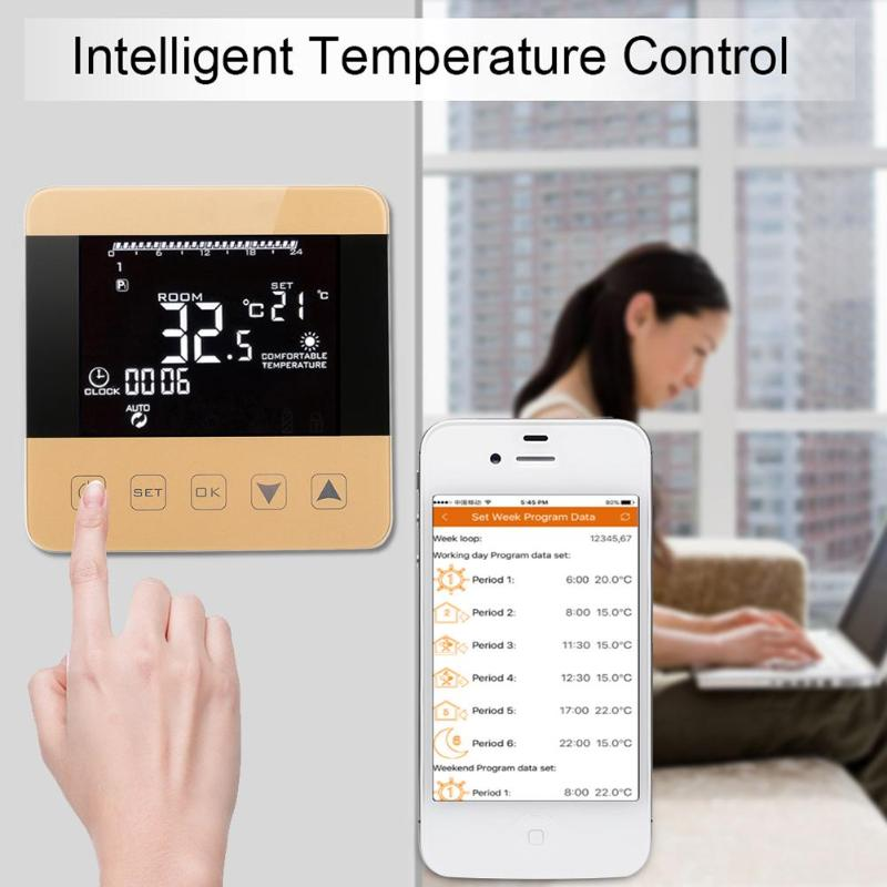 WiFi Temperature Regulator Heating Thermostat Digital LCD Touch Screen Temperature Controller Thermoregulator with Alexa Home
