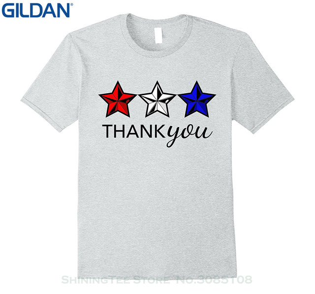 100% Cotton Short Sleeve O-neck Tops Tee Shirts Patriot Veterans Day Usa  Thank You T-shirt fbe6fe691