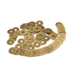 100Pcs Zinc Alloy Lucky Fortune Feng Shui Antique Chinese Ancient Money Coin For Home Collection