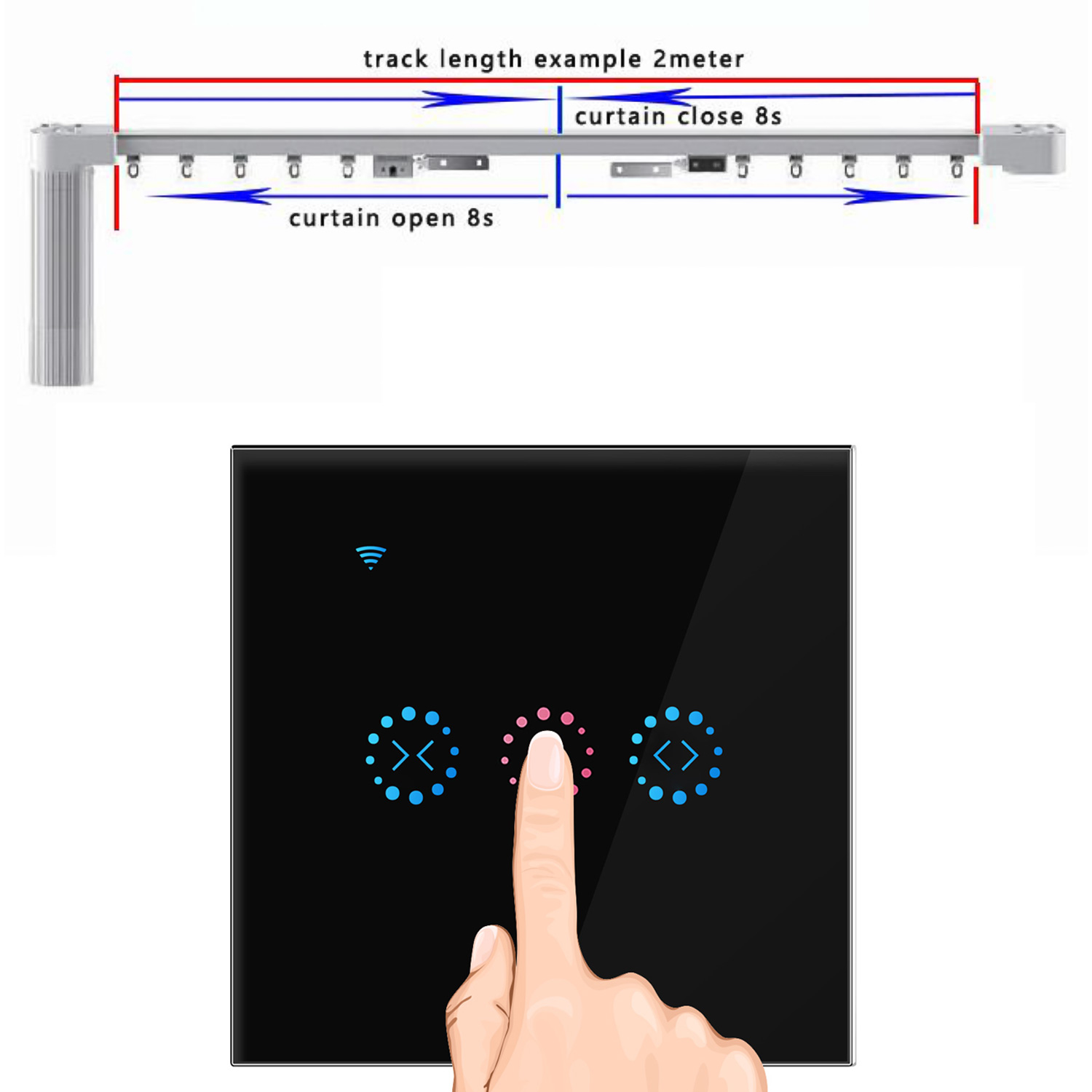 Image 4 - Ewelink WiFi Electrical Blinds Switch Touch APP Voice Control by Alexa Echo AC110 to 250V for Mechanical Limit Blinds Motor-in Switches from Lights & Lighting