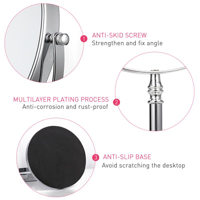 Image 5 - 8 Inch 10X Magnifying Mirror Double sided Makeup Mirror Clear 360°Rotation Easy Cleaning Desktop For Makeup Cosmetic Beauty ToolMakeup Mirrors   -