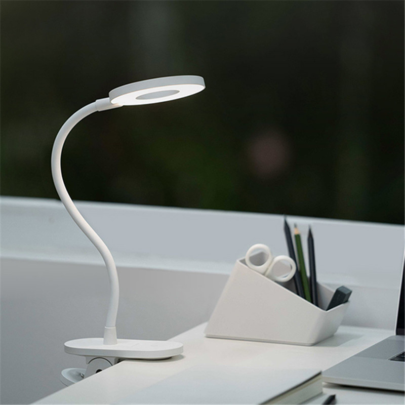 Image 2 - Original Yeelight 5W LED USB Rechargeable Clip Desk Table Lamp Eye Protection Touch Dimmer 3 Modes Reading Lamp For Bedroom-in Desk Lamps from Lights & Lighting