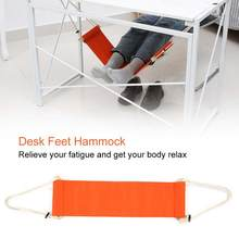 Desk Feet Hammock Outdoor Rest Cot Portable Office Foot Hammock Mini Feet Rest Foot Chair Care Tool protect foot(China)