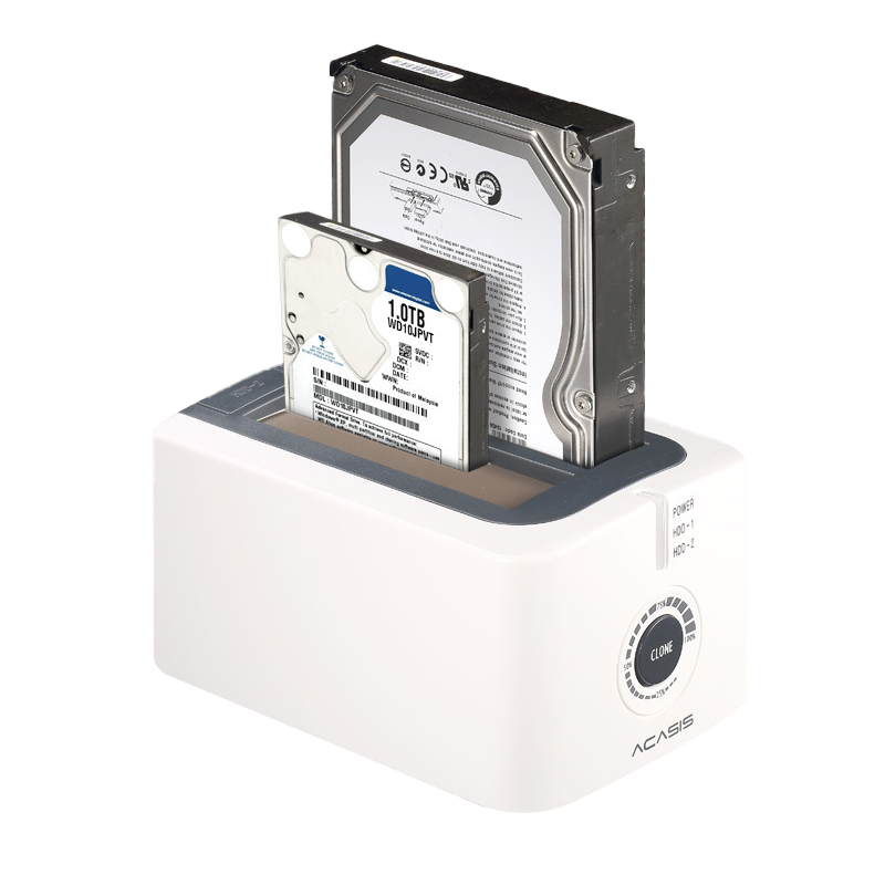 Acasis Ba-12Us 3.5-Inch Sata Usb3.0 Dual Hard Drive Hdd Docking Station Hard Disk Offline Cloning Duplicator Box