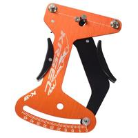 Bicycle Spoke Tension Meter Aluminum Alloy 6061 T6 Wheel Tension Gauge Measurement Tool Orange Easy To Use