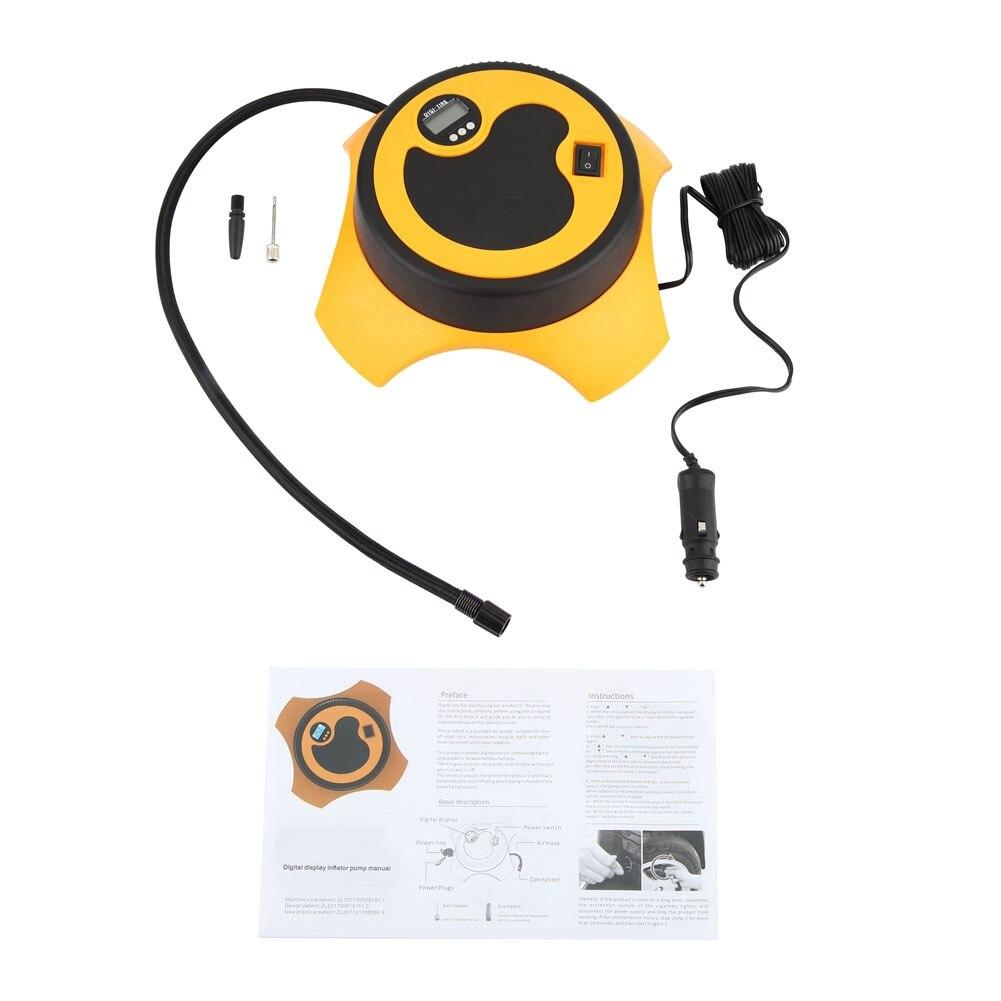Voiture Portable affichage numérique pompe à Air gonfleur de pneu 28 cylindre pompe à huile voiture Portable compresseur d'air pompe 12 V