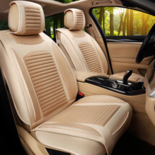 цена на Beige Linen More Comfortable Car Seat Cover For 5-Seats Car Styling