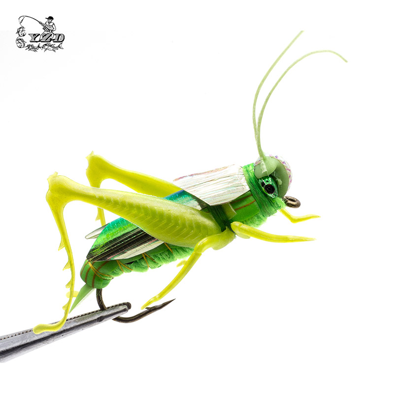 Grasshopper Lure Fluer Dry Fly Fishing Fluer Set Realistic Fly Tying Kit for Gädda Rainbow Trout Flyfishing